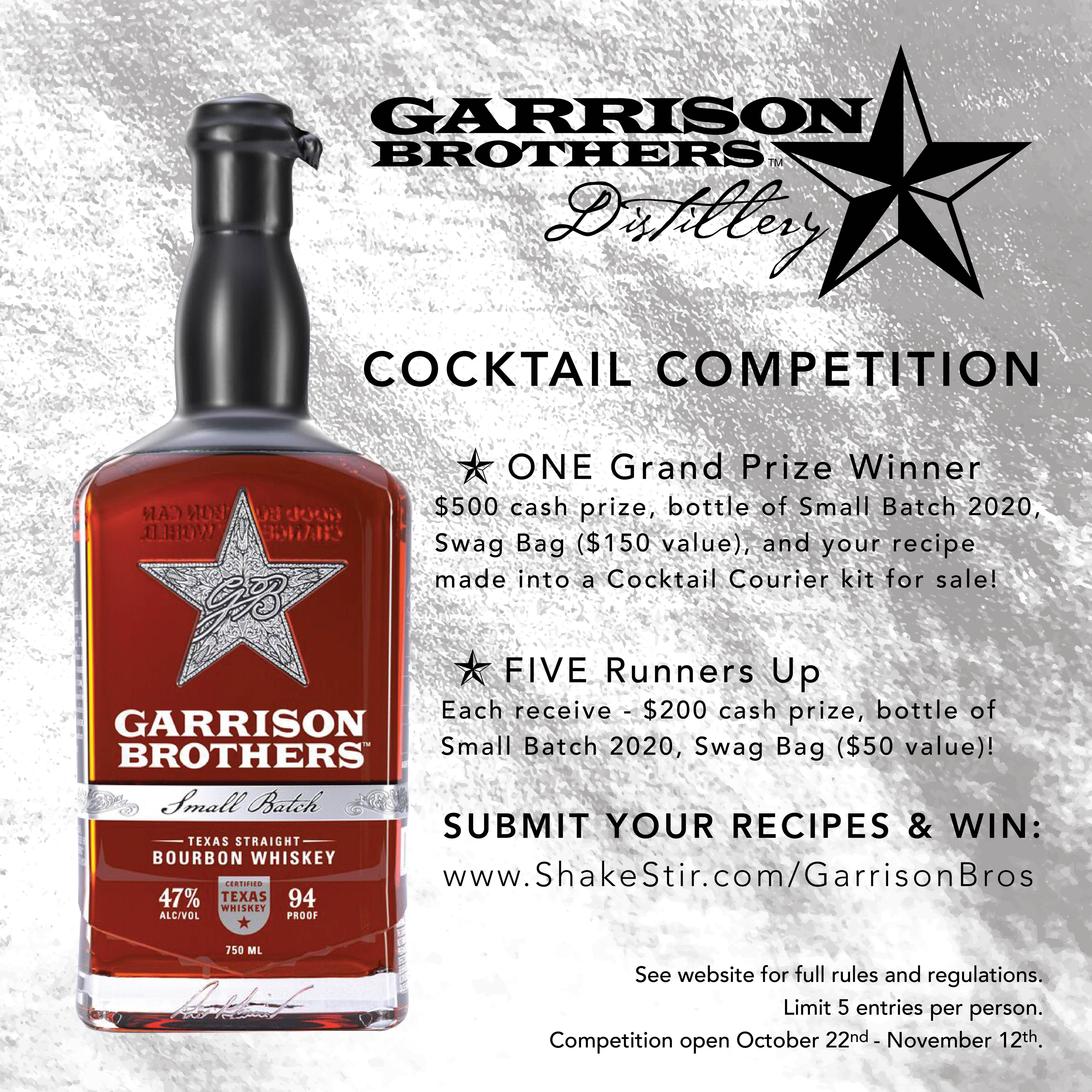 Garrison Brothers Cocktail Competition #2